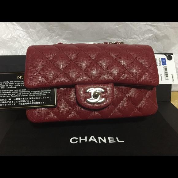 1da6d92e8210b Chanel 17B Red Mini Rectangular Handbag